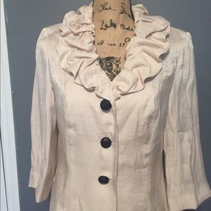 Size 6 Creamy Gold Ladies Blazer